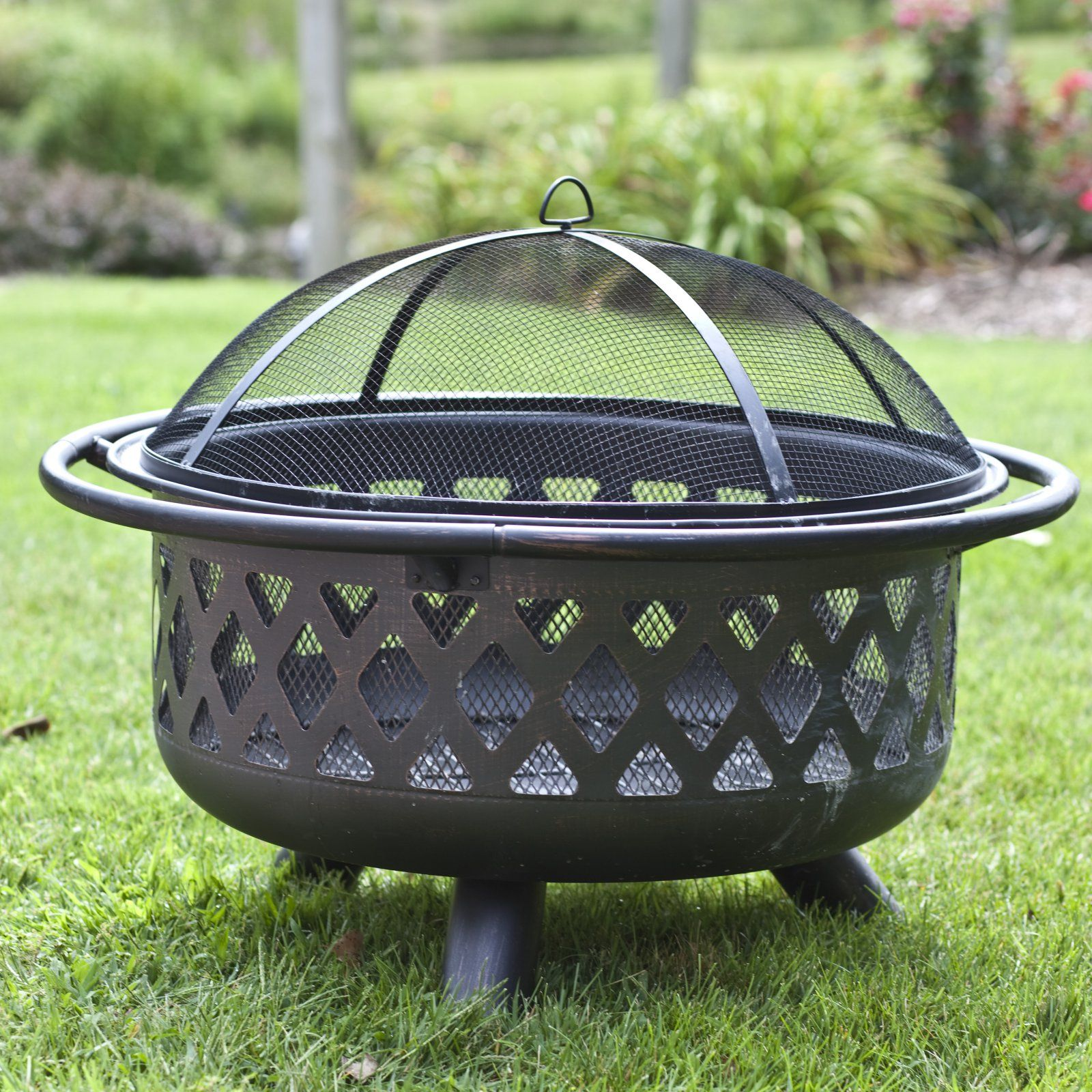 Coral Coast Rubbed Bronze Crossweave 36 In Wood Burning Fire Pit With Free Grill Grate And Cover Walmart Com Wood Burning Fire Pit Fire Pit Backyard Outdoor Fire Pit Designs