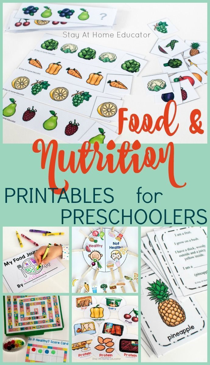 Food and Nutrition Activity Pack  Stay At Home Educator is part of Nutrition activities - Looking for somethingeducationalfood and nutrition activities for your preschoolers  This Food and Nutrition Activity Pack includessix super fun activitiesand multiple variations of each! It's perfect for any health theme in preschool  Whether you're looking for something to supplement your preschool or homeschooling curriculum, or looking for something to add to your centers, this printable activity pack will not disappoint!