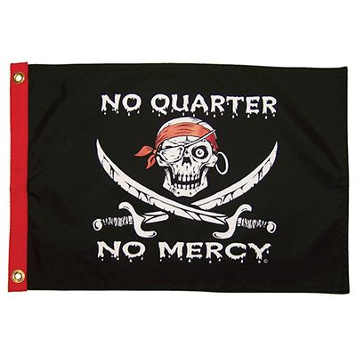 These High Quality Durable Two Sided Grommeted Flags From Flappin Flags Are Sure To Make A Statement The Pirate Crew G Pirate Flag No Quarter Novelty Gifts