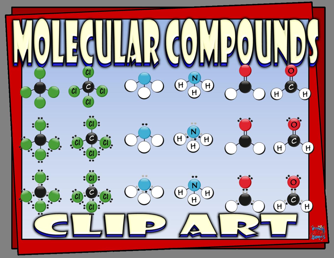 Covalent Molecular Compounds Clip Art For Chemistry