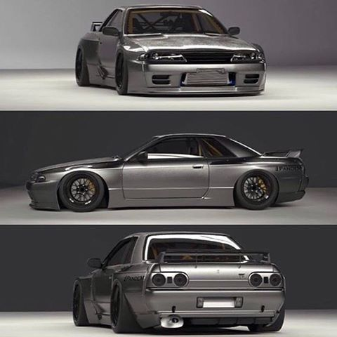 Greddy Rocket Bunny Pandem R32 Gtr Widebody Kit Japanese Cars Tuner Cars Nissan Skyline