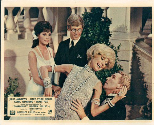 Thoroughly Modern Millie James Fox Caro Channing Mary Tyler Moore Lobby Card Mary Tyler Moore Lobby Cards Carol Channing