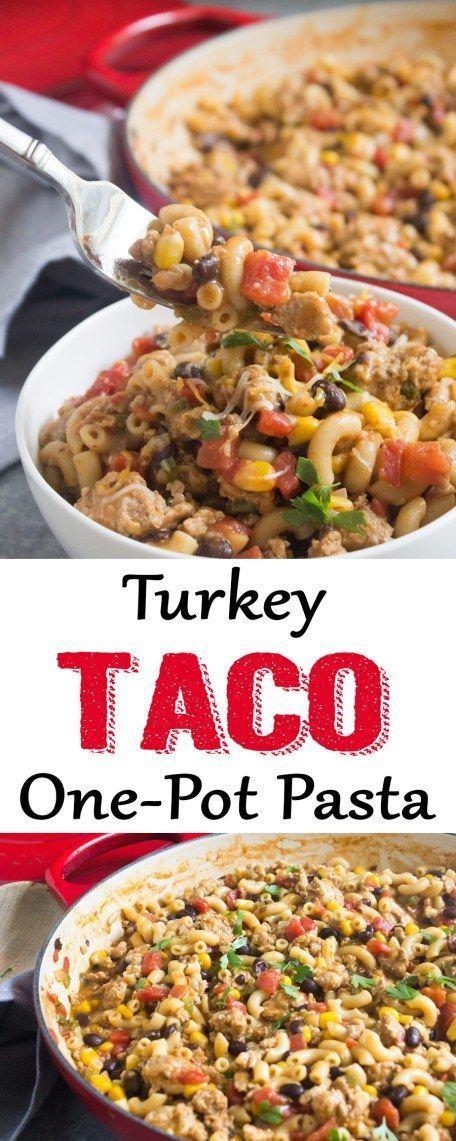 One-Pot Turkey Taco Pasta images