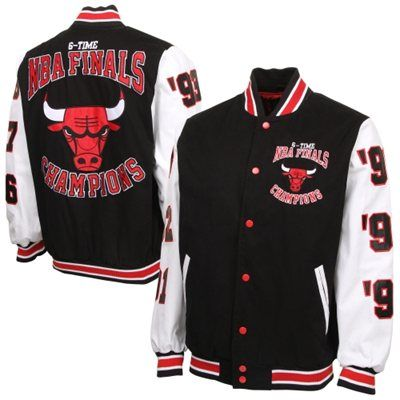 Chicago Bulls 6X NBA Finals Champs High Point Commemorative Full Button  Jacket - Black White f56ffc805