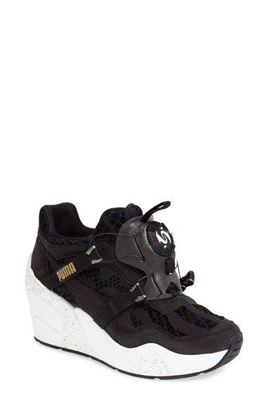 47df50bc467 PUMA  Disc  Wedge Sneaker (Women) Black Size 6 M -  110 on Vein -  getvein.com