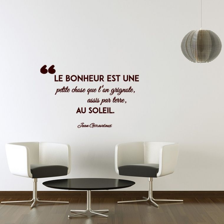 Stickers Phrase Salon Stickers Muraux Chambre With 20 Exclusif