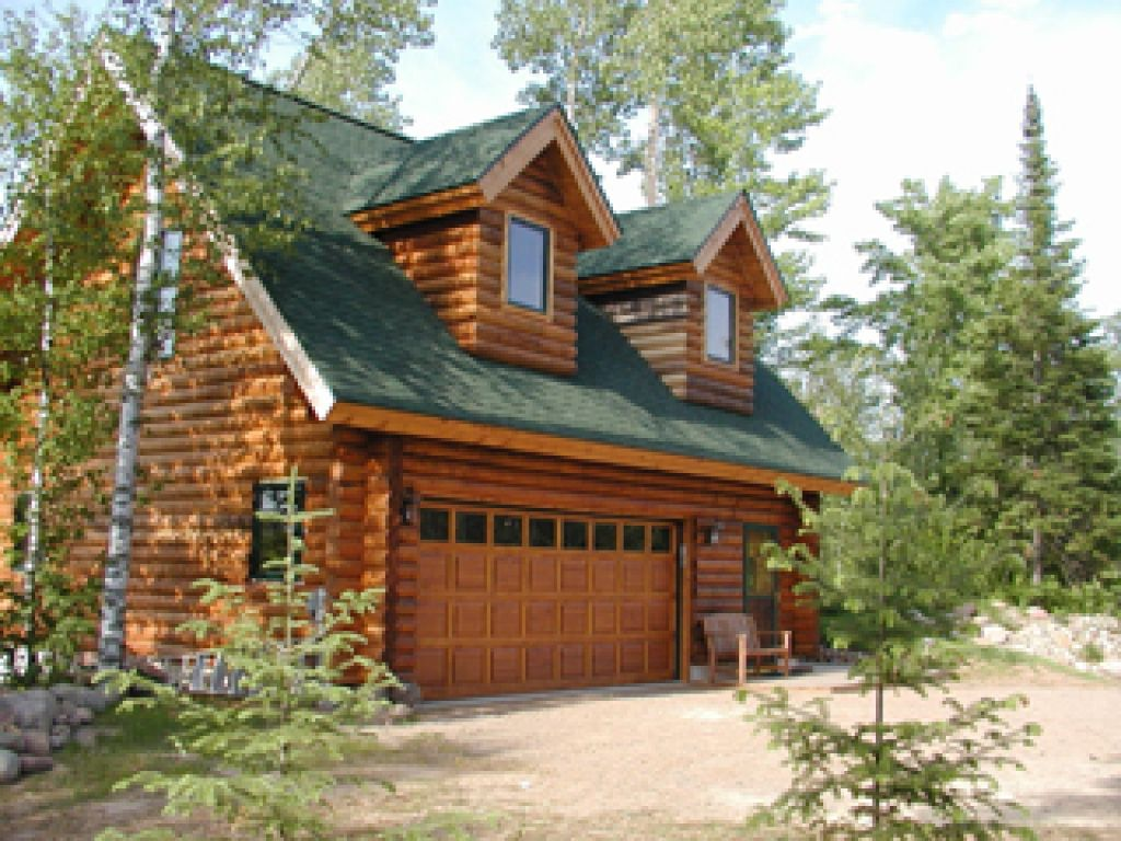 Log Home Plans With Garages Cabin Garage Apartment Design