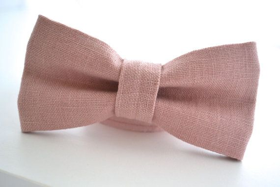 7a0f848ae9ea Mens Bowtie in Dusty Pink Linen Mauve Bow Tie by AmandaJoHandmade ...