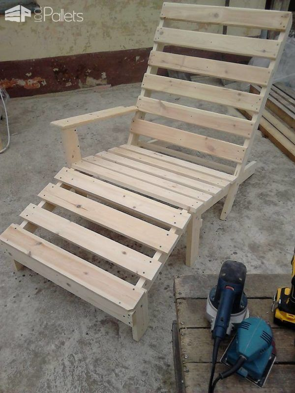 Chaise Lounge Patio Furniture Repair: Relaxing Outdoor Pallet Chaise Lounge Chair