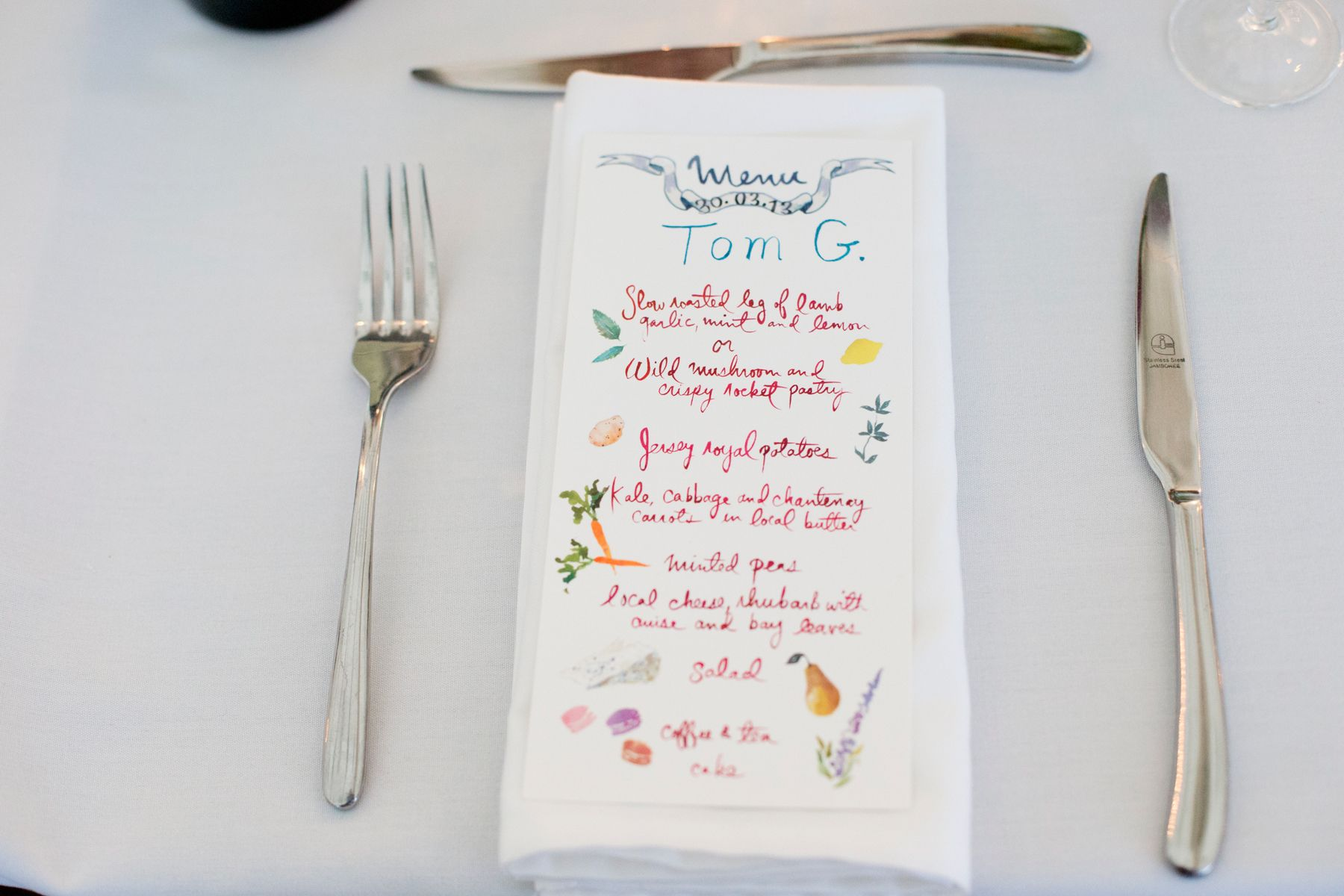 Menus doubled as place cards at dinner the artist happy menocal menus doubled as place cards at dinner the artist happy menocal who created our stopboris Gallery