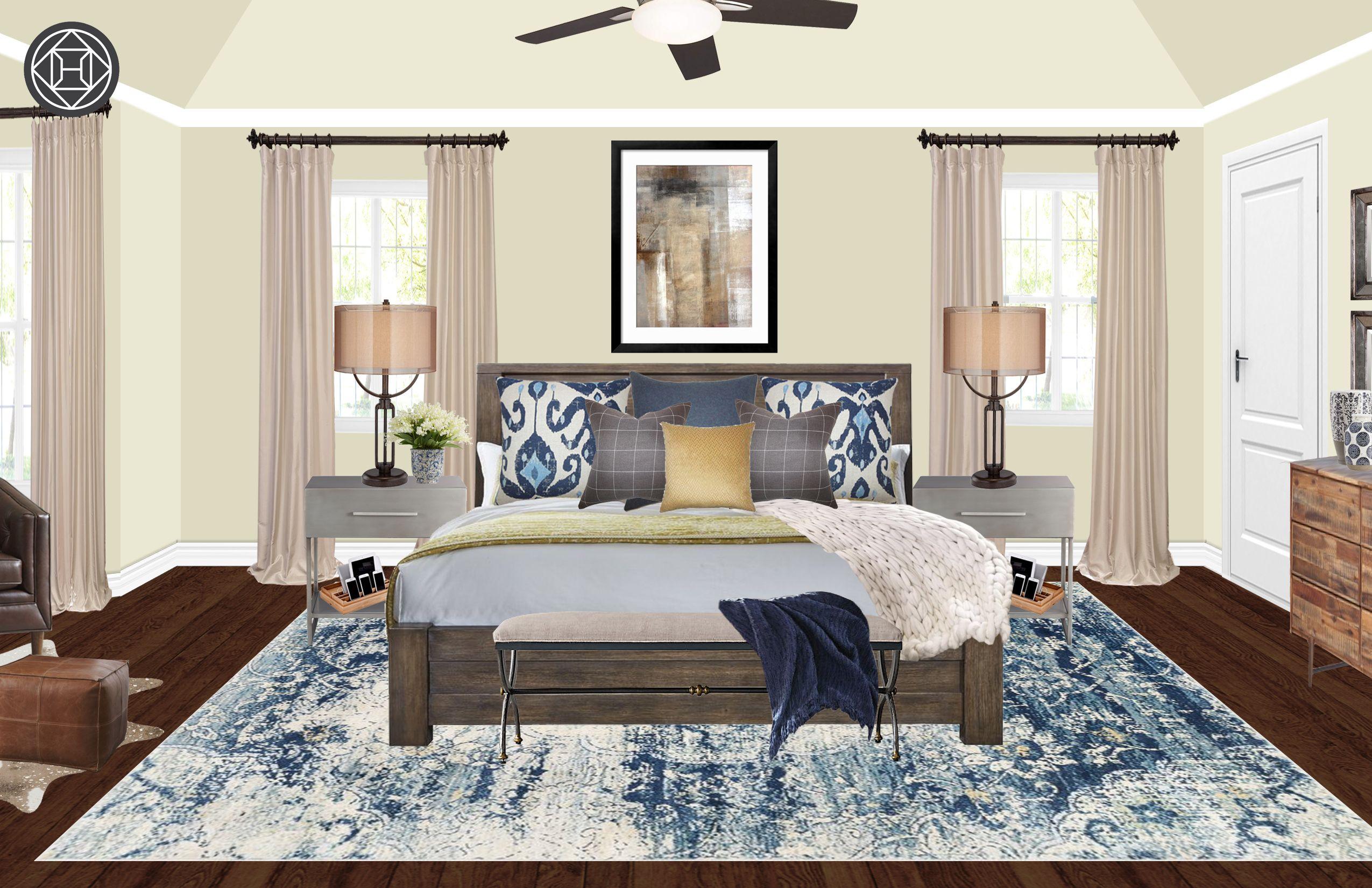 Industrial, Farmhouse Bedroom Design by Havenly Interior