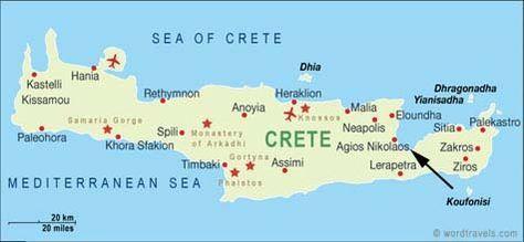 Map Of Agios Nikolaos Crete Greece Kreta Strande Kreta