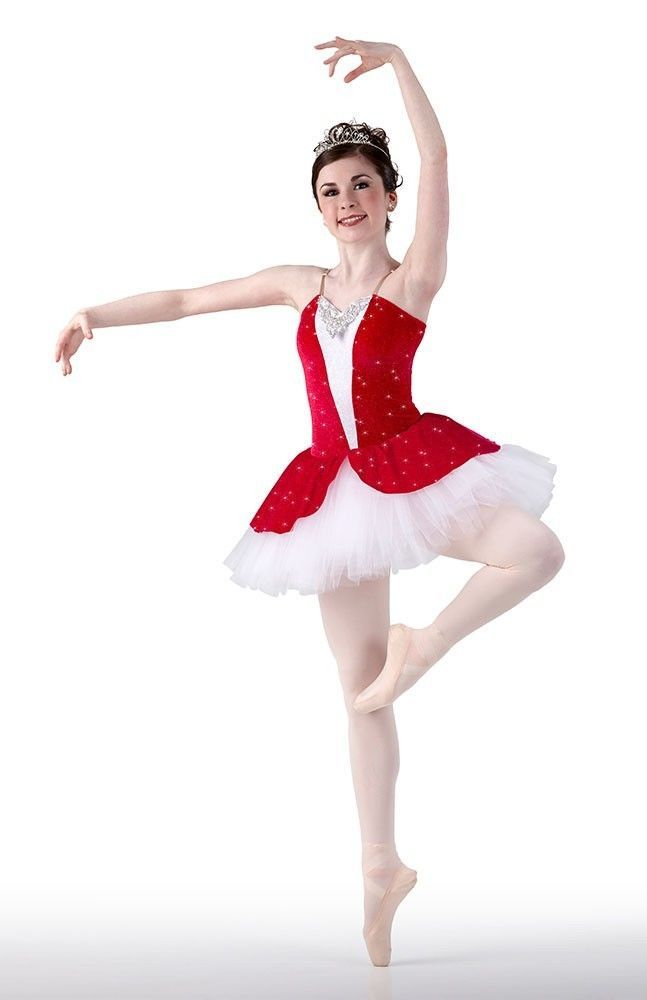 e447ca38c Dance Costume POETIC RED Ballet Tutu CHRISTMAS Ballerina Child & Adult  Sizes New #Cicci
