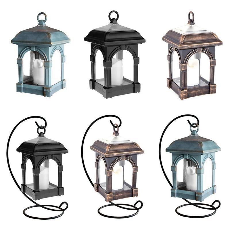 Candle Lantern Shape Solar Led Light Ip44 Waterproof Outdoor Home Hang Lamp With Images Solar Led Lights Outdoor Solar Lanterns Solar Led