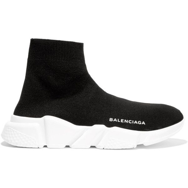 e120889203a9 BalenciagaSpeed Stretch-knit High-top Sneakers ( 465) ❤ liked on Polyvore  featuring shoes