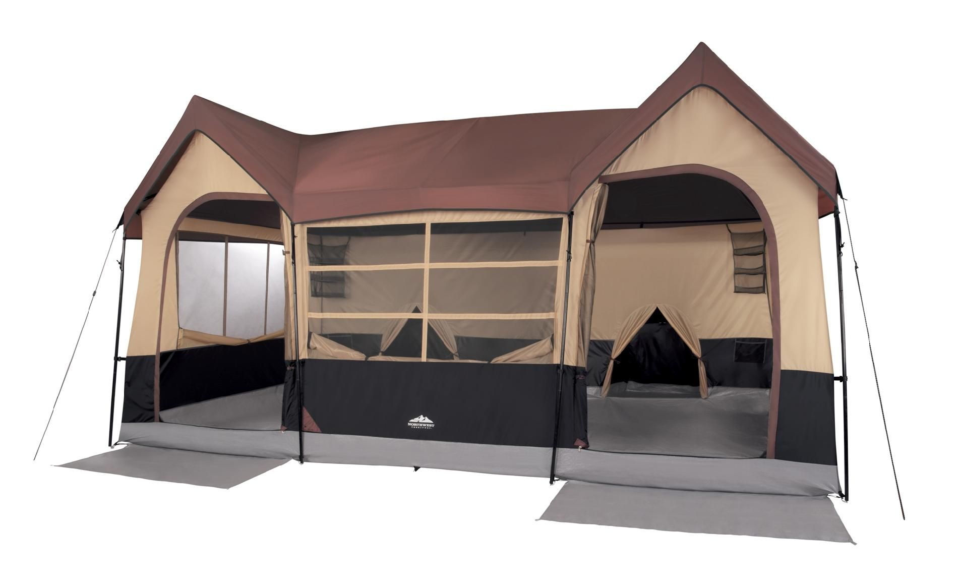 10 Person Weather Resistant Tent Feel at Home Anywhere with Sears  sc 1 st  Pinterest : 3 room tent with screened porch - memphite.com