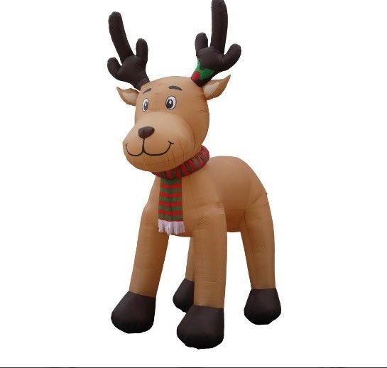 Details about Christmas Reindeer Yard Inflatable 15 Foot Reindeer - moose christmas decorations