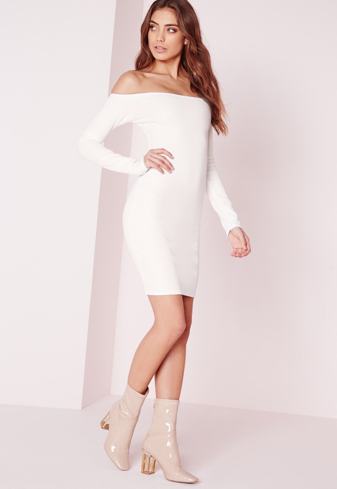 Bodycon dresses are a super-hot addition to any wardrobe and this Bardot LWD will not disappoint. Crank up the heat further with this fierce off the shoulder number and accessorise to the max with piles of chunky jewellery and a pair of stu...