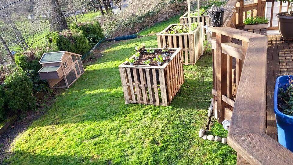 Diy Pallet Garden Raised Flower Bed Ideas Pallet Garden 640 x 480