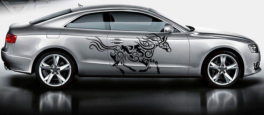 CAR SIDE VINYL DECAL ART STICKER GRAPHICS TRIBAL DECORATED HORSE JK52 #Stickalz