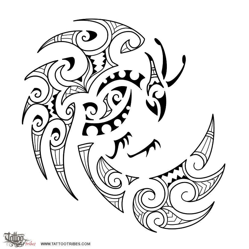 Maori Tattoo Design Stock Photos: Maori Fenhuang (similar To A Phoenix) More History At The
