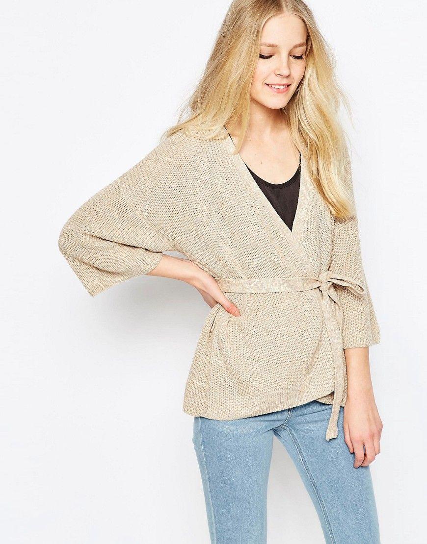 Vila Beaton Wrap Kimono Cardigan In Camel | Spring Fashion ...