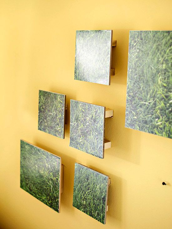 Before and After: Fresh Spring Living Room   Diy wall art, Diy wall ...