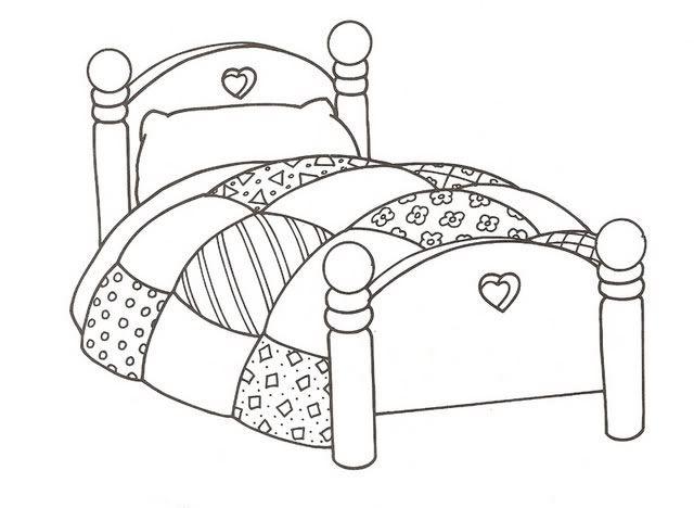 Dibujos cama buscar con google fichas y conceptos for Cama para colorear