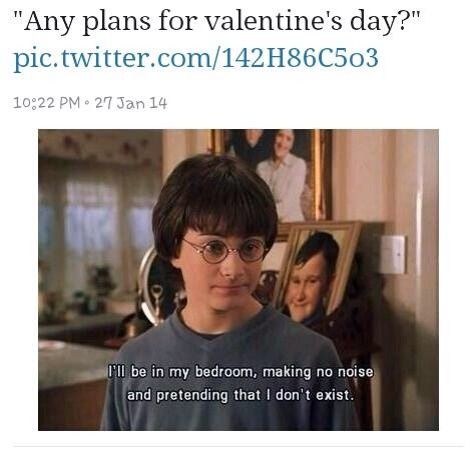 Valentine S Day Plans Harry Potter Quotes Really Funny Memes Harry Potter Funny
