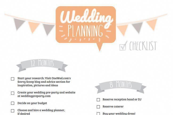 make wedding planning easy with these free timeline checklists