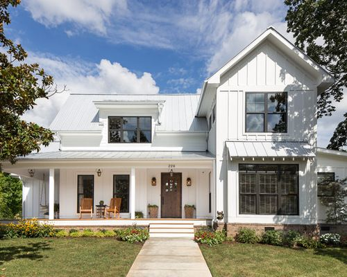 Farmhouse Exterior And Metal Roof White House Decor Ideas In Nashville 10 Raleigh