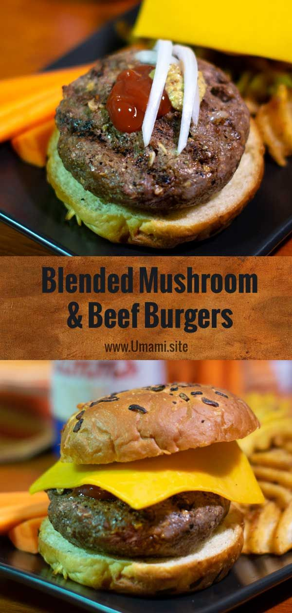 Blended Mushroom and Beef Burgers images