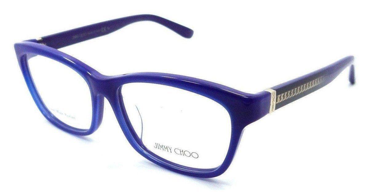 c1196dbb3f0c Jimmy Choo Rx Eyeglasses Frames JC 132 F 153 53-14-140 Azure Blue Asian Fit