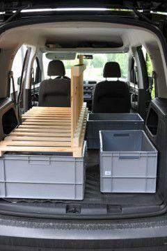 caddy schlafplatz007 stuff to make minivan camping. Black Bedroom Furniture Sets. Home Design Ideas