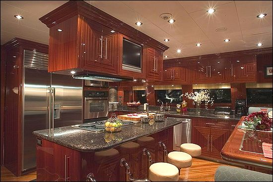 private mega luxury yachts kitchen interiors