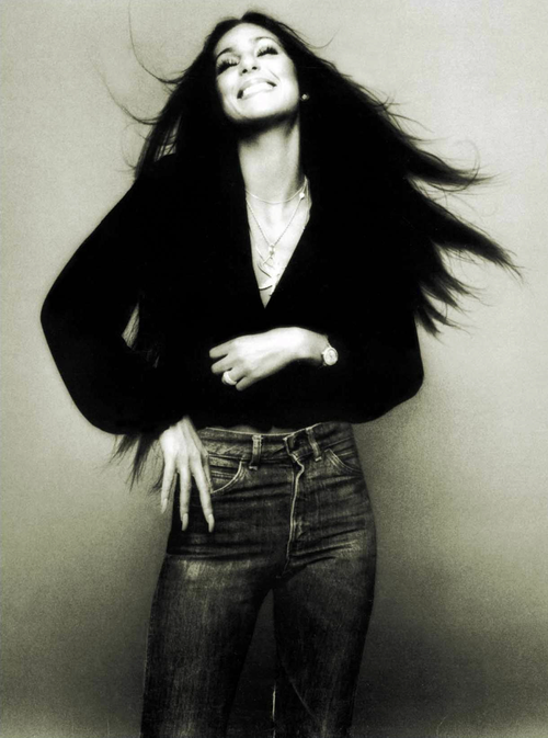 Cher With Her Long Black Hair  Cher Photos, Iconic Women -5020