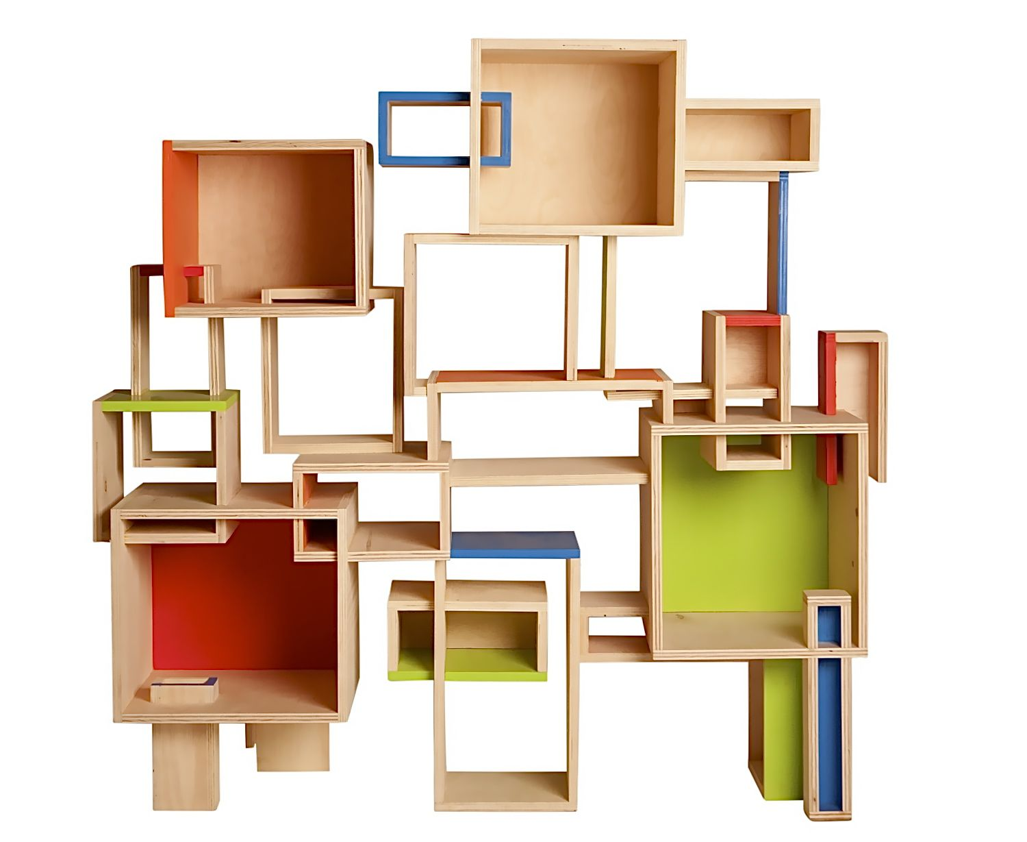 Modular And One-of-a-kind Geometric Bookcase! Designed And