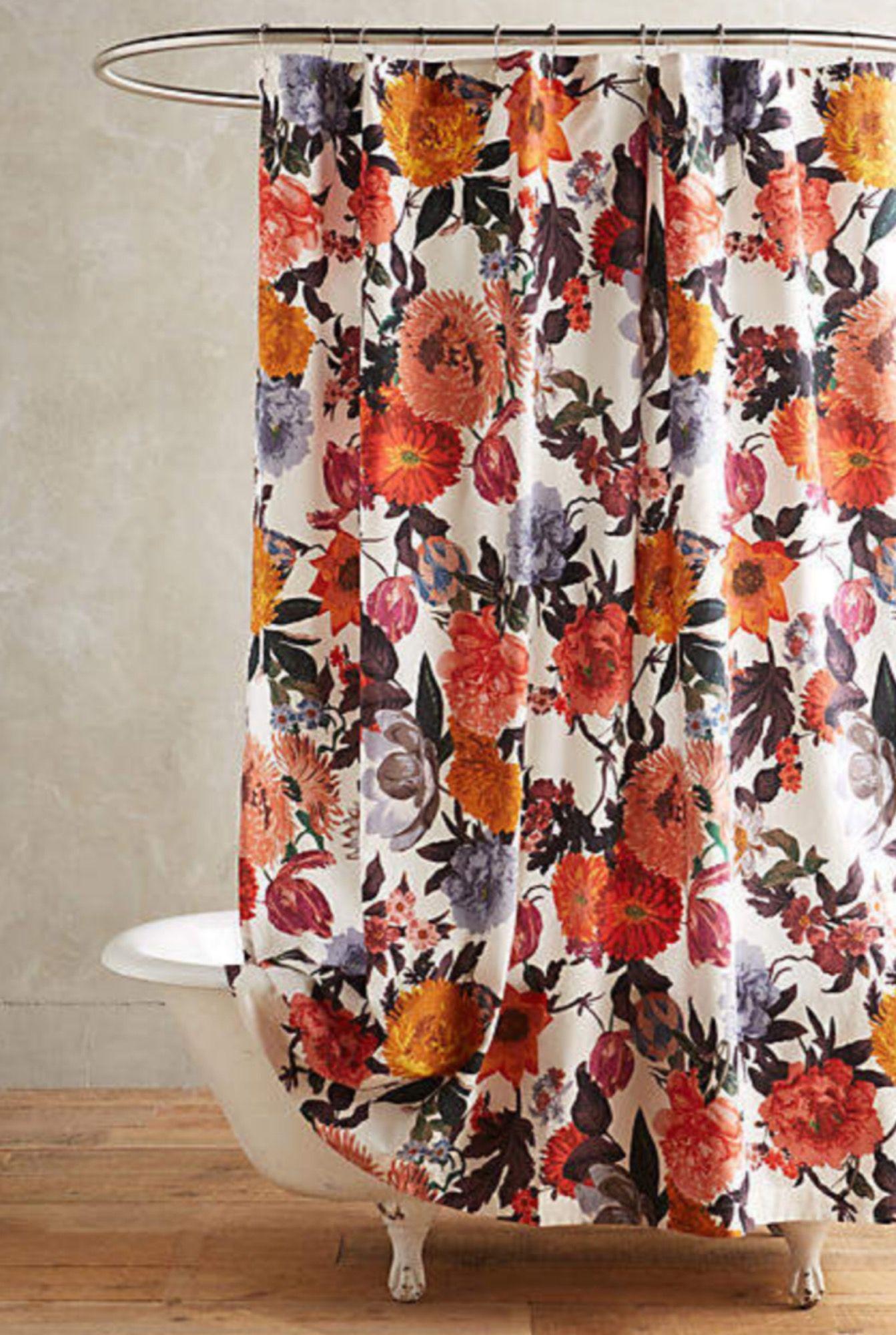 Floral Anthropology Shower Curtain Shower Bathroom Ad Boho