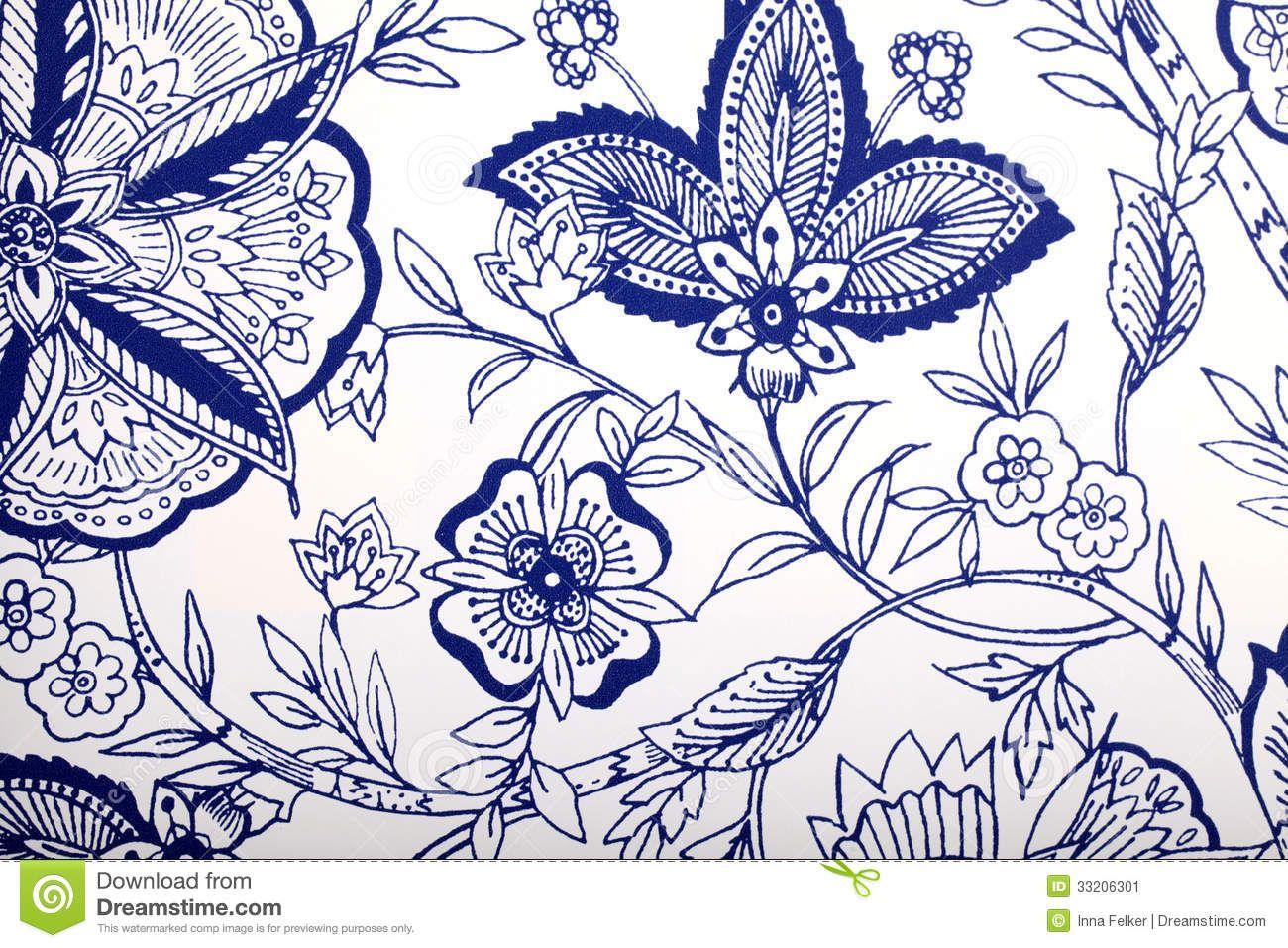 Vintage Wallpaper With Vignette Pattern Stock Image