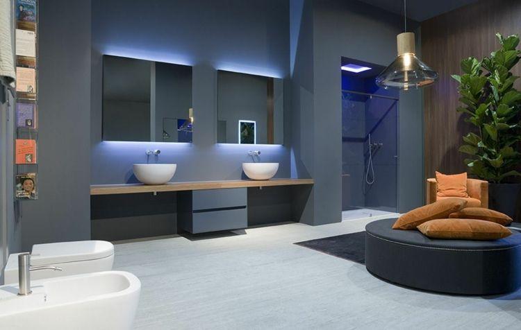 modernes badezimmer mit minimalistischem design | badgestaltung, Hause ideen