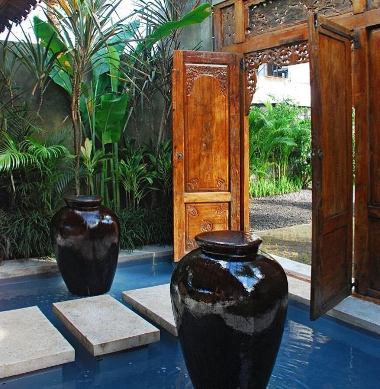 Bali Home Design Ideas: Bali Style With Javanese Teak Door Frame.