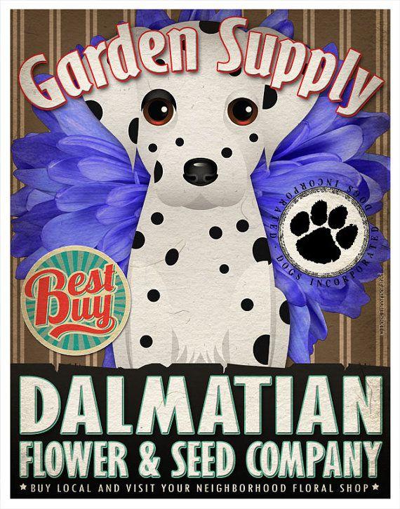 Dalmatian Dalmatians Dalmatian, Dog art, Flower art