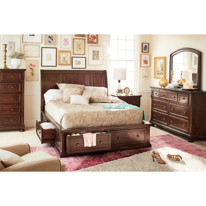 Hanover 7 Pcking Storage Bedroom  Value City Furniture Captivating Value City Furniture Bedroom Sets Design Inspiration