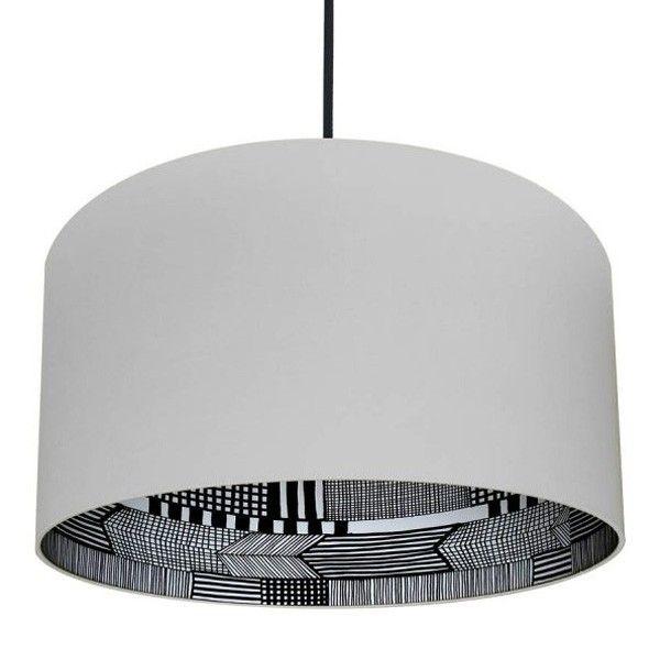 Silhouette+Lampshade+ +Marimekko+Pattern+in+Cloud+Grey+ +