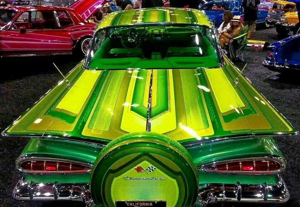 59 cat eyes impala green emerald custom cars paint