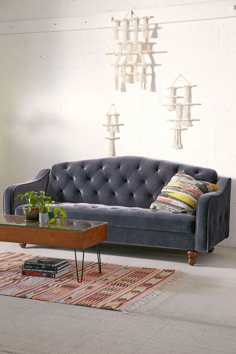 Ava Velvet Tufted Sleeper Sofa Couch Furniture Retro Sofa Sectional Sleeper Sofa