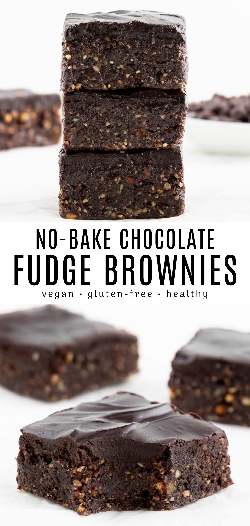 The BEST no bake brownies! These easy and healthy raw vegan brownies will be your new favorite dess