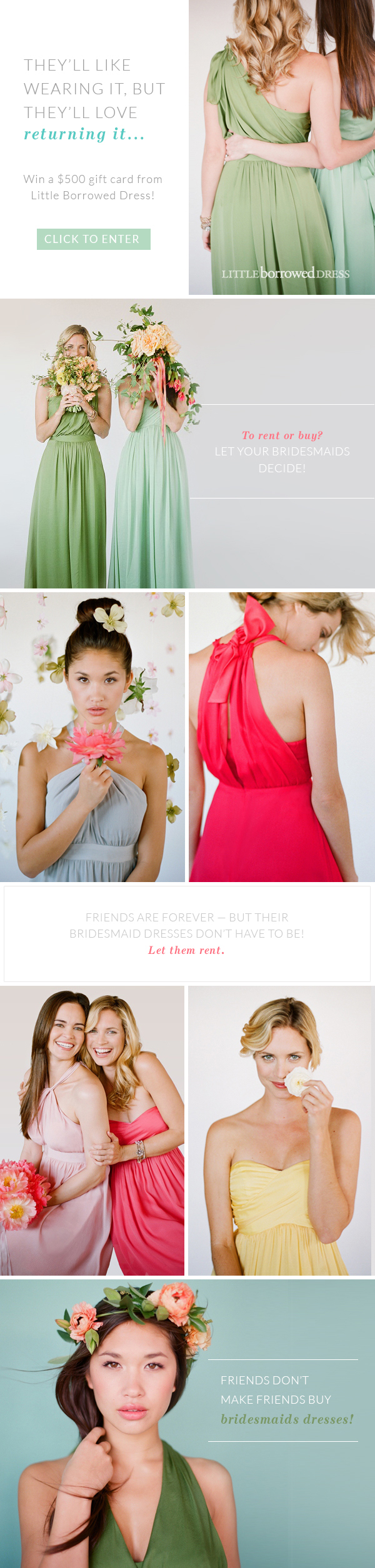 Rent your wedding dress  bridesmaid dress rentals so youure not stuck with a dress youull