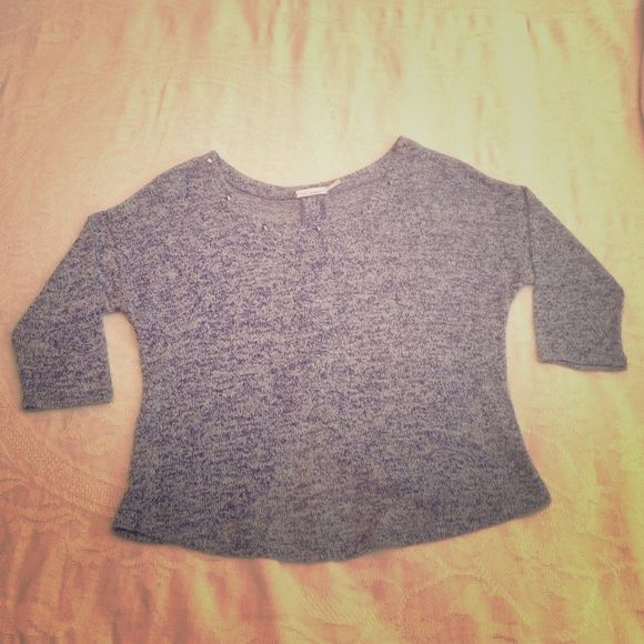 bdc1e0e8e1 Blu Pepper Crop Top It s a very cute sweater like crop top that is blue and