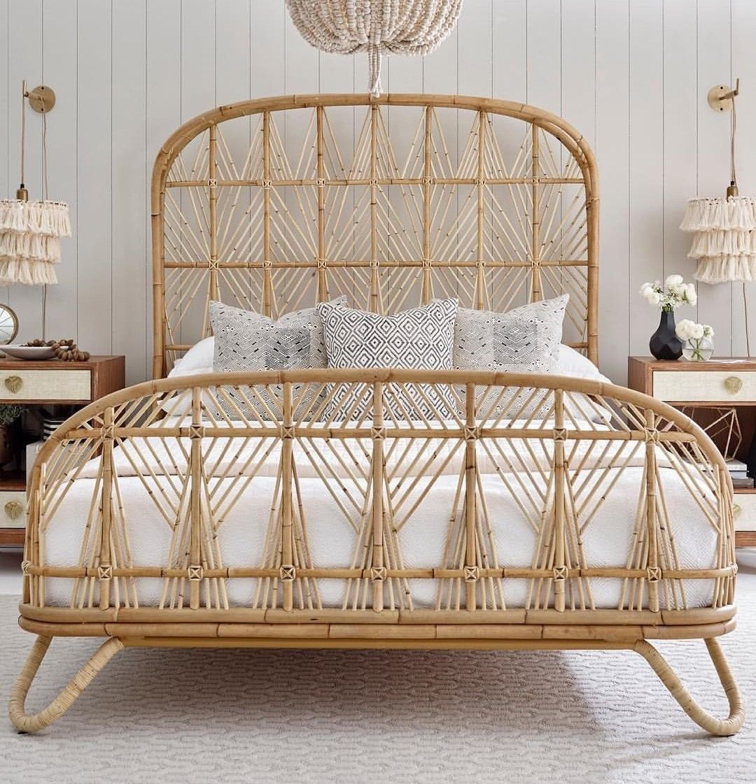 Pin by bohoasis on Boho Decor | Rattan bed, Bedroom ... on Modern Boho Bed Frame  id=12910